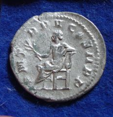 Roman Empire - Silver Antoninianus of Godrian III, the child emperor (238-244 A.D.) minted in Rome, reverse Apollo! (P629)