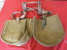 Two antique military mule's ammunition bag from World War I - Italy - circa 1915