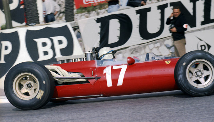 John Surtees Ferrari Colour   Monaco Grand Prix 1966 Photograph. 55cm x 44cm