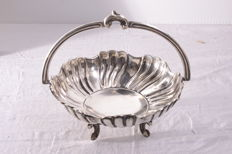 Stancampiano silver basket, Palermo, mid 1900s