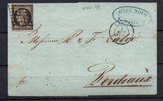France 1849/1868 - lot of 10 letters or envelopes between Yvert 3 and 24