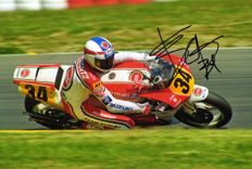personally signed by Kevin Schwantz usa Originalautogramm 20x30cm