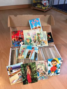 Large lot of more than 1600 postcards - 5 kg