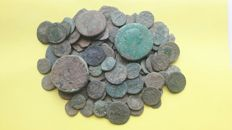 Roman Empire -- Lot of 110 Roman AE coins, various emperors