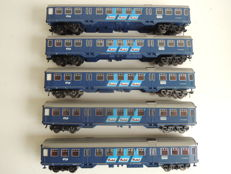 Fleischmann H0 - 7 pieces NS passenger carriages