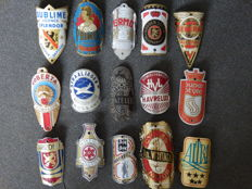 Collection of 15 Nice Bicycle Head Badges , including - Arizona,  Batavus, Roberta, Straaljager, Wuytack and others