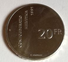 Switzerland - Commemorative coins in silver and cupronickel.