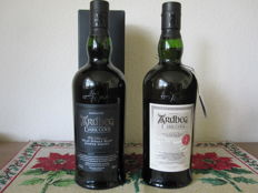 2 bottles - Ardbeg Dark Cove - 1 signed by Mickey Heads & 1 Committee Release