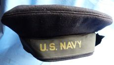 Original Named WW2 US Navy Seaman's Cap