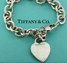 Tiffany & Co - Sterling silver ladies bracelet, USA Circa.1990's - 925/1000 - Length : 18.5 cm