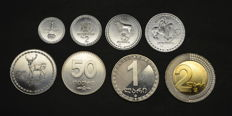 Georgia - Set of 7 Coins 1993/2006