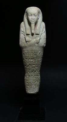 Egyptian faience Ushabti for Tious son of Tayderek - 160 mm