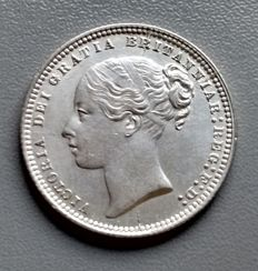 United Kingdom - Shilling - 1873 - Queen Victoria - silver  die no. 3  (398)