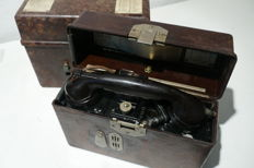 2 field phones of the German army from 1939 and 1940, company Saba 2. WW