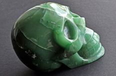 Finely detailed Aventurine skull - 12.4 X 9.8 X 8.4 cm - 1409 gm
