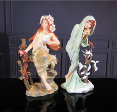 Alfons Mucha - Two Sculptures Autumn & Winter - Mouseion Collection