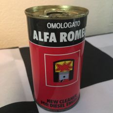ALFA ROMEO OMOLOGATO (APPROVED) +1 125ml DIESEL ENGINE CLEANER OIL CAN UN-USED 1980's RARE