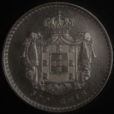 Portugal – 500 Reis in SILVER – D. Maria II – 1847 – Lisbon – AG: 39.13 – Excellent