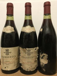 1976  Louis Trapet  Chambertin Grand Cru , Bourgogne   -  Total 3 Bottles