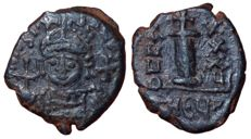The Byzantine Empire - Justinian I (527-565 AD) - Æ Decanummium (19,5mm; 4,13g.), Year 7 (c. 563) - Theoupolis (Antioch) mint - SB 239; D.O. 264-7; M.I.B. 160