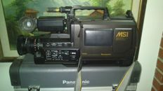 PANASONIC S-VHS CAMERA RECORDING and PLAYBACK NV MS1 HQ  - suitcase - various accessories -  purchase year 1991