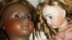 Bru / Mulat, France - Length 35-60 cm - Replica antique dolls 'Tèteur' and Mulat, 2nd half of 20th century.