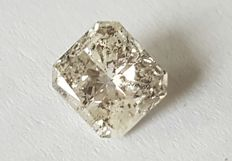 1.56 ct radiant cut diamond, white H l1.