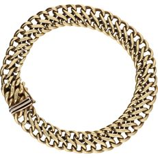 14 kt - Yellow gold two-strand link bracelet - Length: 19 cm