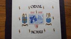 "Belgium 1942 - ""Orval"" block and""Orval"" block with surcharge oddities -  OBP  BL 24"