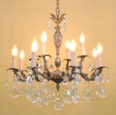 Beautiful French Chandelier, 12 light points, second half 20th century