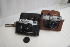 "Zorky-4, THE USSR. KMZ (Krasnogorsk)-1956-1973.As a gift camera FED-5V, the USSR ""FED"" (Kharkov) 1977-1990"