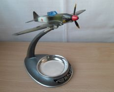 "A  souvenir-ashtray with the legend of World War II - attack aircraft ""IL-2"" (cement bomber). 1960. 100% original."