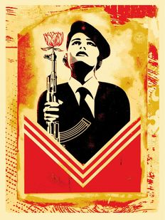 Shepard Fairey (OBEY) - Peace Guard 2 Stencil (Lisbon)