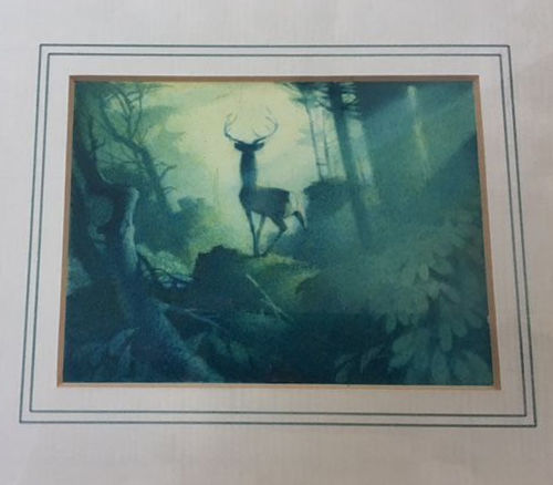 Disney, Walt - Original preliminary Watercolour - Bambi's father - Bambi (1942)