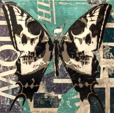 Rich Simmons - Skull Butterfly (Blue Edition)