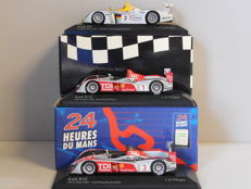 Minichamps - Scale 1/43 - Lot with 3 Audi Le Mans models: 1 x R8 & 2 x R10