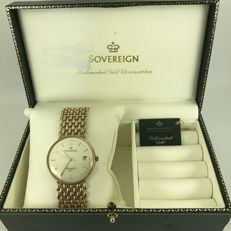 Sovereign men's Quartz 9k gold watch