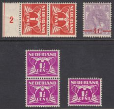 The Netherlands 1921/1926 – Flying Dove and Queen Wilhelmina with misprint or plate error