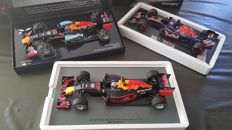 Minichamps / Spark - Scale 1/18 - Lot with 3 Max Verstappen models: Red Bull Racing RB12 2016, Red Bull Racing RB7 Snow demonstration run Kitzbühel & Scuderia Toro Rosso STR11 Russian GP 2016