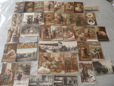 France , lot of 40 cards 1913 to 1919