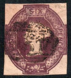 Great Britain 1854 - Queen Victoria - 6d purple Stanley Gibbons 60