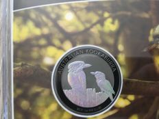Australia - Dollar 2017 'Kookaburra' with hologram and ruthenium plated - 1 oz silver