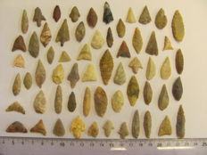 60 x Neolithic arrowheads - 12/36 mm (60)