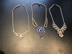 3x Vintage statement necklace