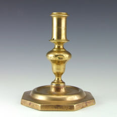 Antique brass candlestick - Spain - late 17th - early 18th century