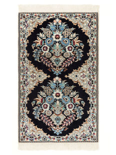 Hand-knotted carpet from Nain Iran, approx. 2000, 160 x 108 cm.