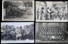 Belgium/France - World War I - 1914/1922 - lot of 128 cards including 37 interesting cards written to family or loved ones