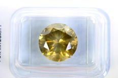 ´Rare´ Diamond - Fancy Dark Yellowish Green - SI2 - 5.02 ct - No Reserve Price