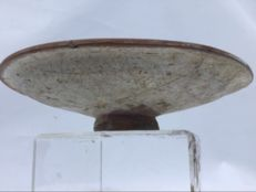 Greek Hellenistic drinking/ sacrificial bowl - baked clay - 140 mm x 30 mm
