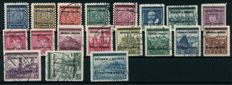 "Bohemia and Moravia 1939 - ""Heads and landscapes, 5H to 10 Kc"", Michel 1-19 tested ""Gilbert"""